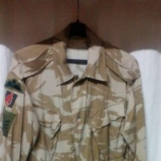 Militaria: UNIFORME BRITANICO COMPLETO CAMO DESERTICO GUERRA DEL GOLFO TALLA XL CON FUNDA CASCO ,. Lote 76594751