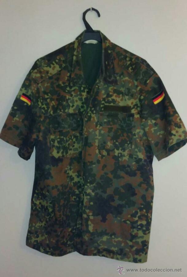 fa33695906e CHAQUETA CHUPITA CAMISA FLECKTARN EJÉRCITO ALEMÁN (Militar - Uniformes  Extranjeros ) ...