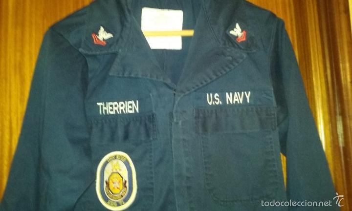USN. US NAVY. MONO DE UNIFORME. USS ROSS. ESCUDO ANTIMISILES DE ROTA (Militar - Uniformes Extranjeros )