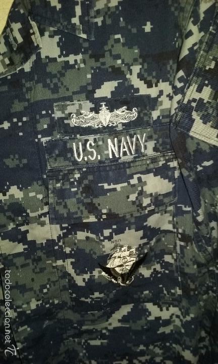 Militaria: USN. US NAVY. CHAQUETA PIXELADA AZUL DE UNIFORME DE FAENA - Foto 2 - 170745640