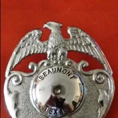Militaria: AUTENTICA, NO GÓDE-PLACA GORRA GRANDE DE POLICIA POLICE ESTADOS UNIDOS AMERICA.,TEXAS ES ORIGINAL. Lote 60011215