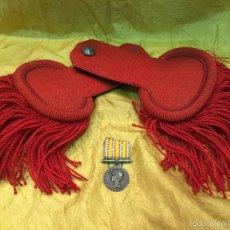Militaria: ANTIGUAS CHARRETERAS DE UNIFORME DE GALA BOMBEROS FRANCESES MODELO TERCERA REPÚBLICA 1931. Lote 60203743