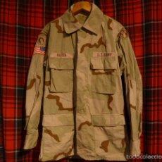 Militaria: ESTADOS UNIDOS. GUERRERA DE CAMUFLAJE, CON PARCHES DE AIRBONE, AMERICANO. GUERRA IRAK Y AFGANISTAN. Lote 61063287