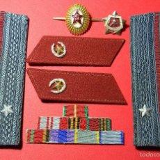 Militaria: URSS - CCCP - LOTE DISTINTIVOS UNIFORME - TENIENTE - UNIDADES REGULARES - GUERRA FRIA - ORIGINAL. Lote 61183063