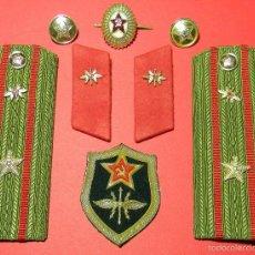 Militaria: URSS - CCCP - LOTE DISTINTIVOS UNIFORME - MAYOR - TRANSMISIONES - GUERRA FRIA - ORIGINAL. Lote 61183359