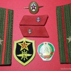 Militaria: URSS - CCCP - LOTE DISTINTIVOS UNIFORME - MAYOR - TRANSMISIONES - GUERRA FRIA - ORIGINAL. Lote 61183747