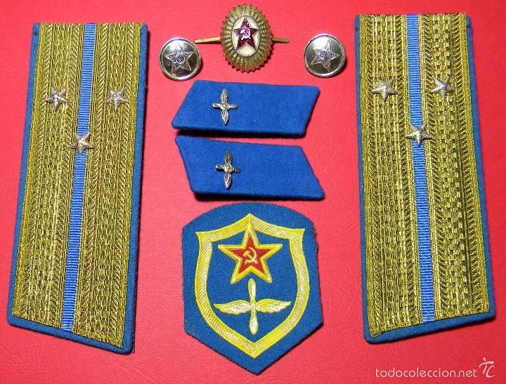 Militaria: URSS - CCCP - Lote distintivos uniforme - Teniente Mayor - Fuerzas aereas - Guerra Fria - Original - Foto 2 - 61184927