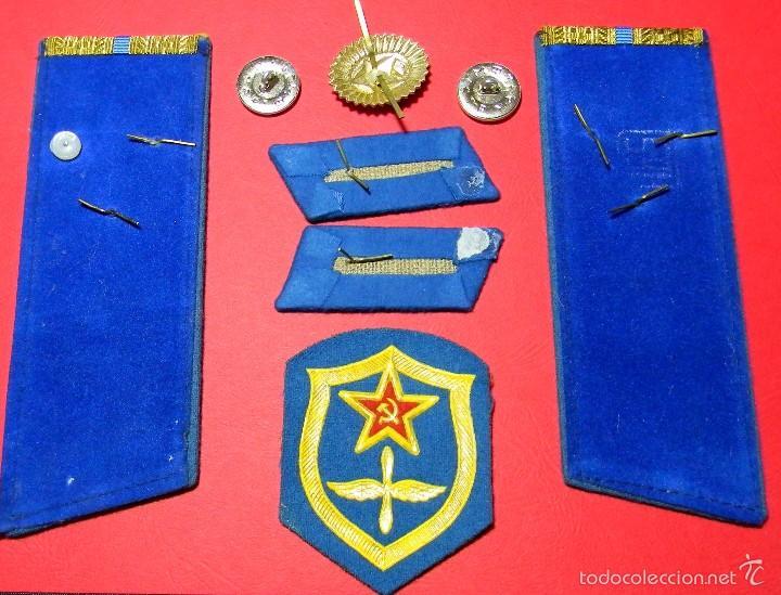 Militaria: URSS - CCCP - Lote distintivos uniforme - Teniente Mayor - Fuerzas aereas - Guerra Fria - Original - Foto 3 - 61184927