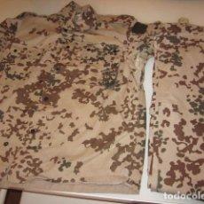 Militaria: UNIFORME ALEMAN TROPENTARN FLEKDESERT DESIERTO ARIDO DESERT CAMISOLA Y PANTALON GRANDE L O XL. Lote 63267332