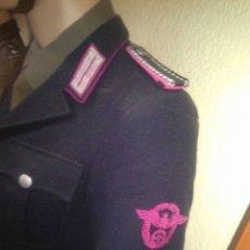 Militaria: OFERTON UNIFORME ALEMAN ORIGINAL POLICEI FEURWEHR1944 COMPLETO GUERRERA+PANTALON +CASCO M34POLICEI. Lote 67347521