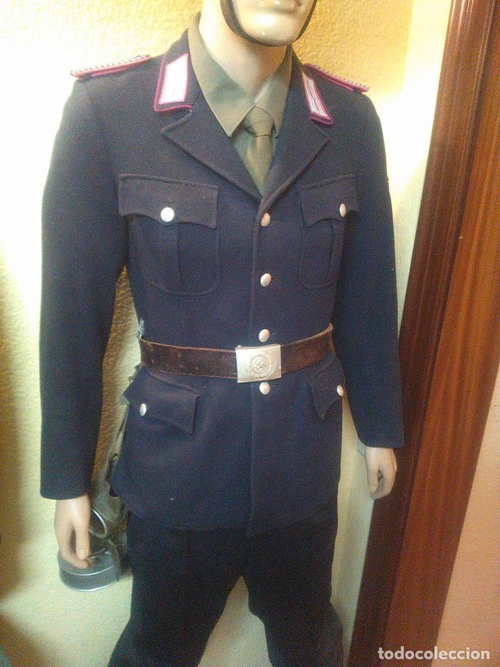 Militaria: OFERTON UNIFORME ALEMAN ORIGINAL POLICEI FEURWEHR1944 COMPLETO GUERRERA+PANTALON +CASCO M34POLICEI - Foto 3 - 67347521