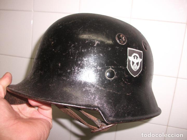 Militaria: OFERTON UNIFORME ALEMAN ORIGINAL POLICEI FEURWEHR1944 COMPLETO GUERRERA+PANTALON +CASCO M34POLICEI - Foto 13 - 67347521