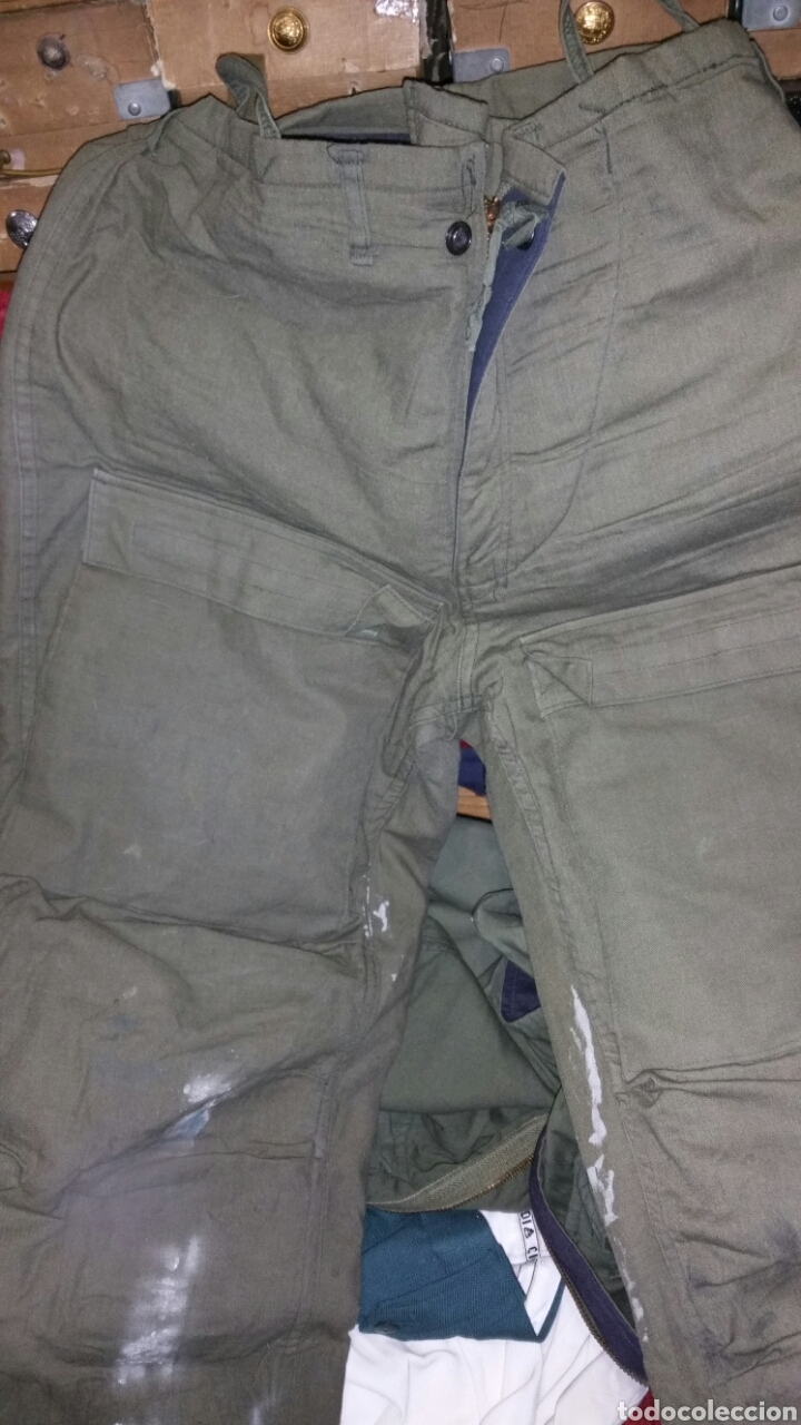 Militaria: Pantalón militar NBQ guerra Vietnam años 50 60 cintura aproximada 48 cm entrepierna abajo 78 centíme - Foto 2 - 67969270