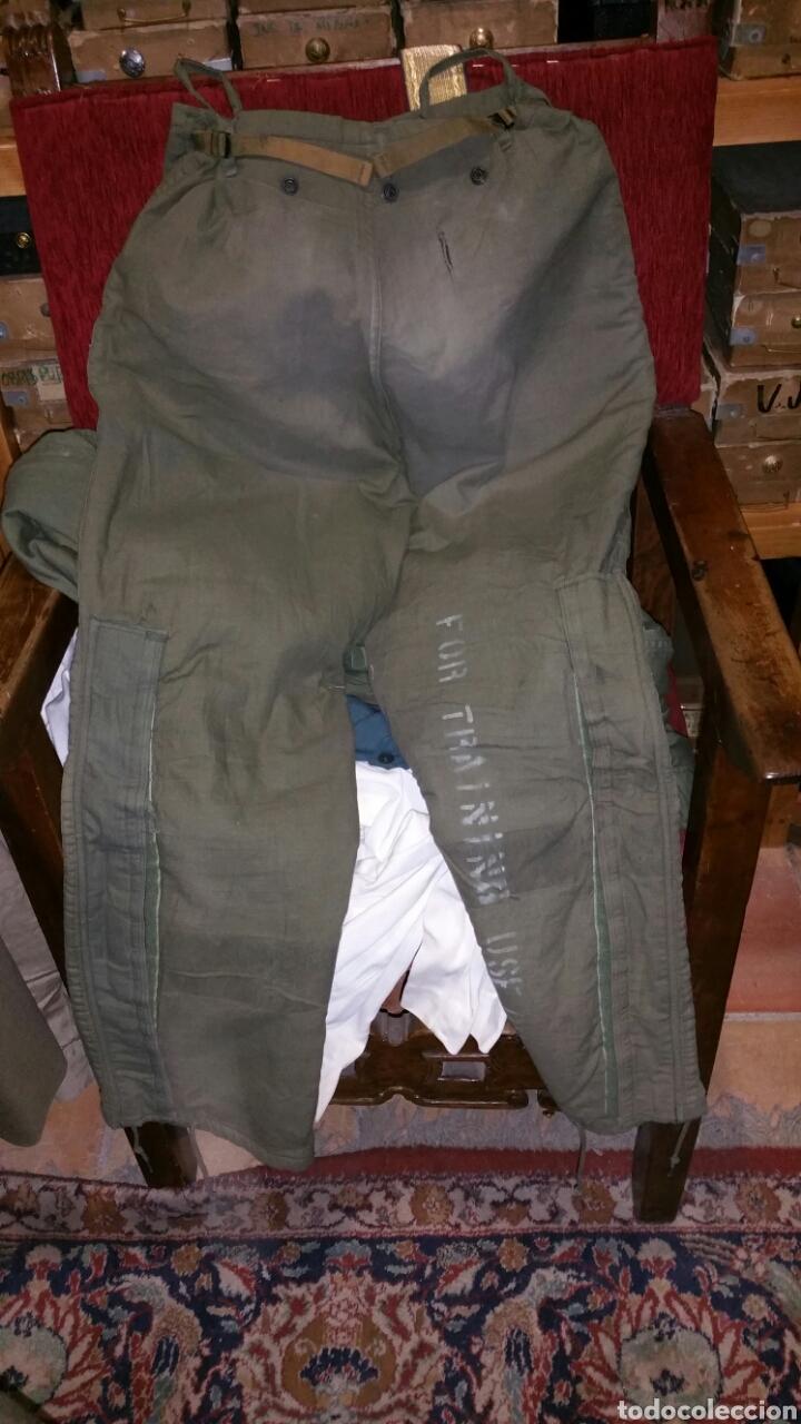 Militaria: Pantalón militar NBQ guerra Vietnam años 50 60 cintura aproximada 48 cm entrepierna abajo 78 centíme - Foto 7 - 67969270