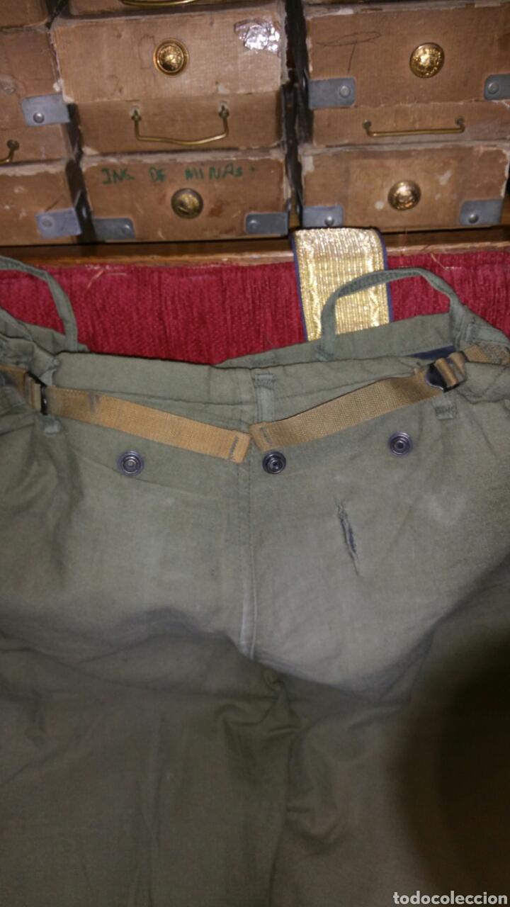 Militaria: Pantalón militar NBQ guerra Vietnam años 50 60 cintura aproximada 48 cm entrepierna abajo 78 centíme - Foto 8 - 67969270
