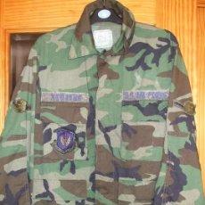 Militaria: AUTÉNTICA CAMISA CHAQUETA CAMUFLAJE US ARMY WOODLAND. Lote 68312177