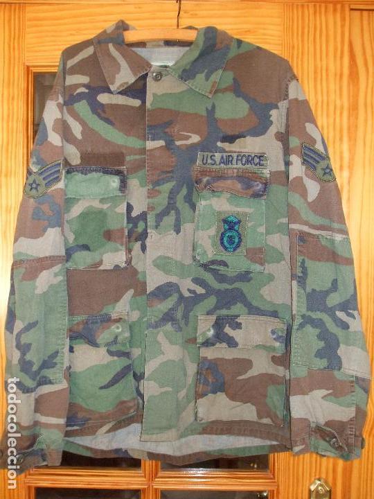 AUTÉNTICA CAMISA CHAQUETA CAMUFLAJE US ARMY WOODLAND (Militar - Uniformes Extranjeros )