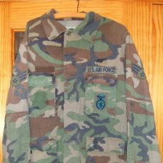 Militaria: AUTÉNTICA CAMISA CHAQUETA CAMUFLAJE US ARMY WOODLAND. Lote 182064676