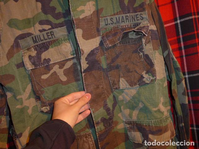 Militaria: Guerrera de uniforme americano, US Marines. Estados Unidos. - Foto 4 - 69547741