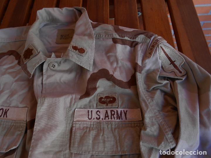 Militaria: Guerrera arida Teniente coronel US 1ª guerra del golfo Paracaidistua airborne y Boina verde - Foto 2 - 70298149