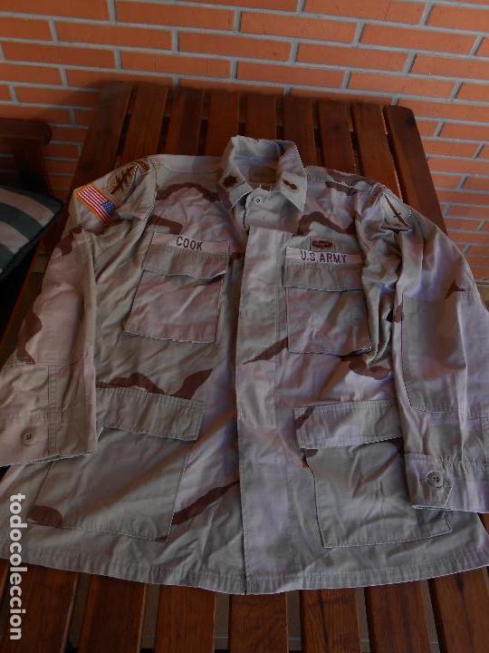Militaria: Guerrera arida Teniente coronel US 1ª guerra del golfo Paracaidistua airborne y Boina verde - Foto 3 - 70298149