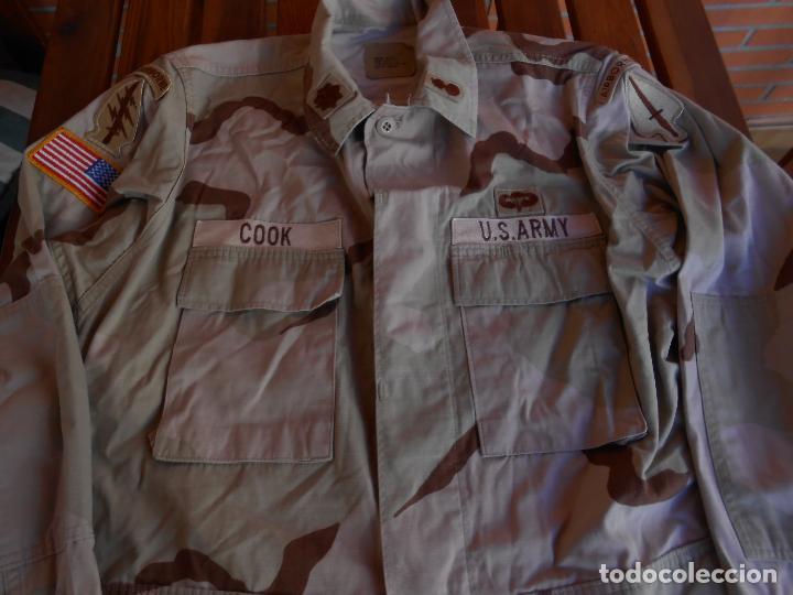 Militaria: Guerrera arida Teniente coronel US 1ª guerra del golfo Paracaidistua airborne y Boina verde - Foto 4 - 70298149