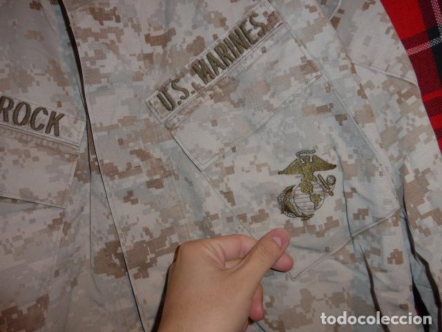 Militaria: Guerrera original de uniforme de camuflaje de marines americanos, estados unidos. - Foto 5 - 76127727