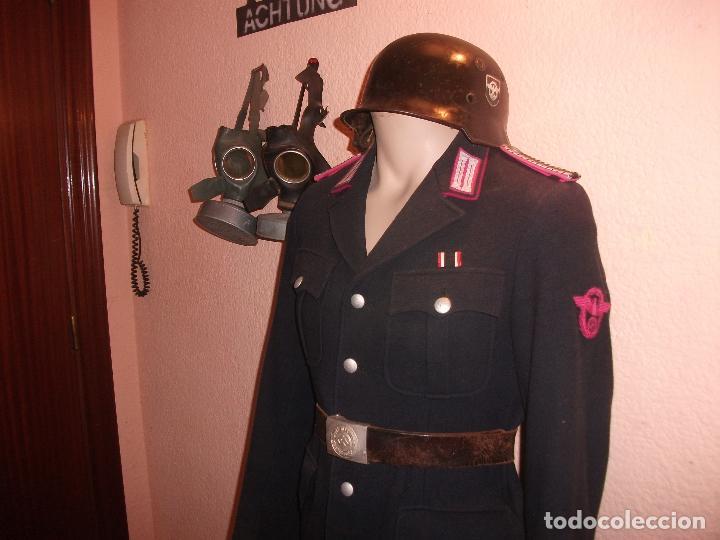 Militaria: OFERTON UNIFORME ALEMAN ORIGINAL POLICEI FEURWEHR1944 COMPLETO GUERRERA+PANTALON +CASCO M34POLICEI - Foto 16 - 67347521