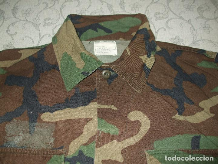 Militaria: AUTÉNTICA CAMISA CHAQUETA CAMUFLAJE US ARMY WOODLAND - Foto 2 - 84034140