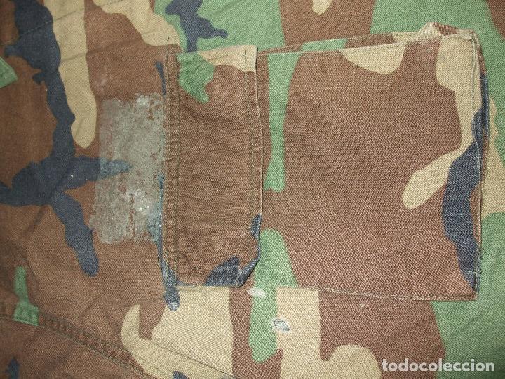 Militaria: AUTÉNTICA CAMISA CHAQUETA CAMUFLAJE US ARMY WOODLAND - Foto 3 - 84034140