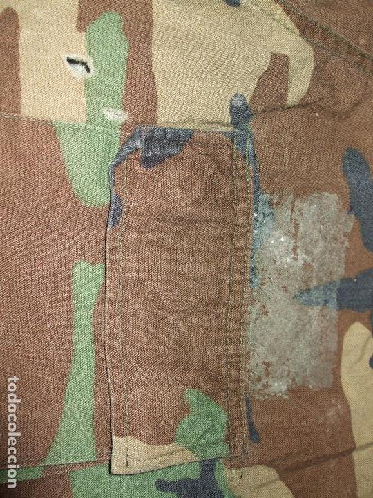 Militaria: AUTÉNTICA CAMISA CHAQUETA CAMUFLAJE US ARMY WOODLAND - Foto 4 - 84034140
