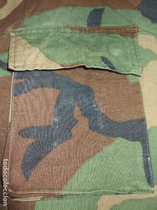 Militaria: AUTÉNTICA CAMISA CHAQUETA CAMUFLAJE US ARMY WOODLAND - Foto 5 - 84034140