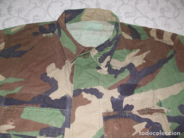 Militaria: AUTÉNTICA CAMISA CHAQUETA CAMUFLAJE US ARMY WOODLAND - Foto 2 - 84035760