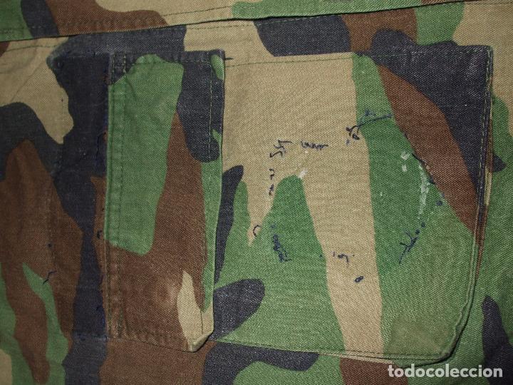 Militaria: AUTÉNTICA CAMISA CHAQUETA CAMUFLAJE US ARMY WOODLAND - Foto 3 - 84035760