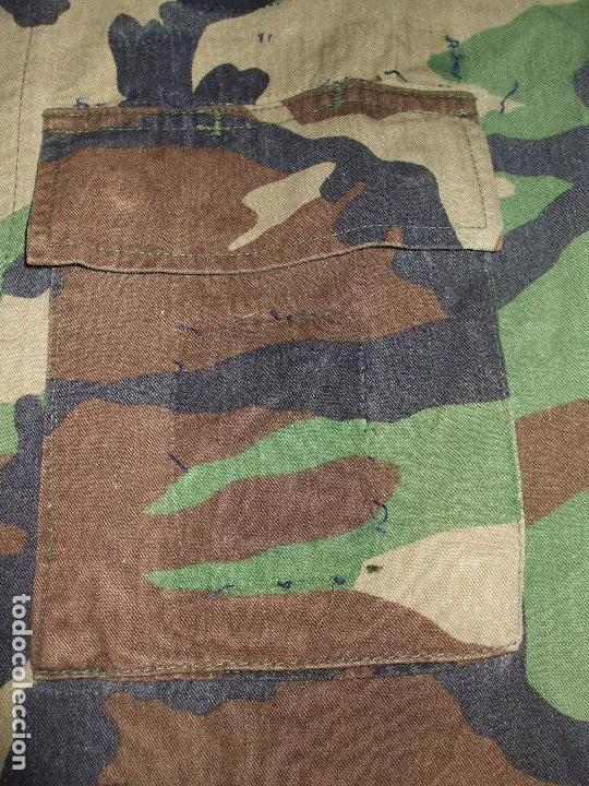 Militaria: AUTÉNTICA CAMISA CHAQUETA CAMUFLAJE US ARMY WOODLAND - Foto 4 - 84035760