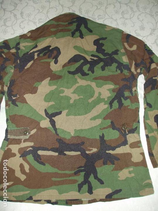 Militaria: AUTÉNTICA CAMISA CHAQUETA CAMUFLAJE US ARMY WOODLAND - Foto 7 - 84035760
