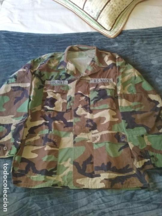 USN. US NAVY. CHAQUETA DE UNIFORME WOODLAND (Militar - Uniformes Extranjeros )