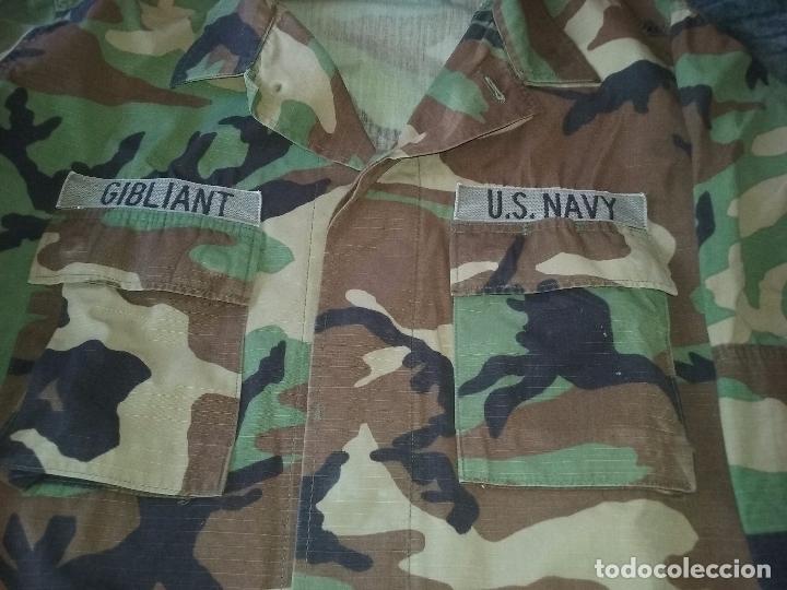 Militaria: USN. US NAVY. CHAQUETA DE UNIFORME WOODLAND - Foto 2 - 129976967