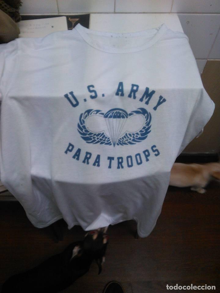 CAMISETA AMERICANA AMERICANA US ARMY PARACAIDISTAS EN ALGODON PARA INTERIOR UNIFORME TALLA L XL (Militar - Uniformes Extranjeros )