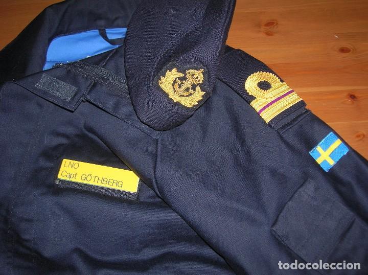 Militaria: RARO Y MUY ESCASO UNIFORME DE DIARIO O FAENA DE OFICIAL DE LA ARMADA SUECA. CALIDAD DEL MATERIAL. - Foto 4 - 103188163