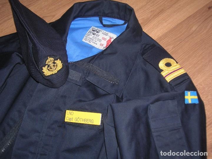 Militaria: RARO Y MUY ESCASO UNIFORME DE DIARIO O FAENA DE OFICIAL DE LA ARMADA SUECA. CALIDAD DEL MATERIAL. - Foto 8 - 103188163