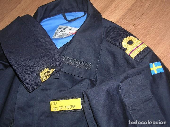 Militaria: RARO Y MUY ESCASO UNIFORME DE DIARIO O FAENA DE OFICIAL DE LA ARMADA SUECA. CALIDAD DEL MATERIAL. - Foto 13 - 103188163