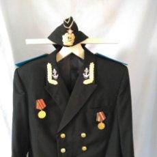 Militaria: URSS - OFICIAL DE SUBMARINOS - ARMADA ROJA - UNIFORME CON PILOTKA. Lote 104057459