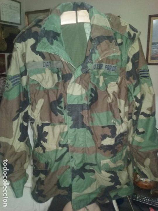 USAF. US AIR FORCE. CHAQUETON TIPO M-65 WOODLAND PARA TIEMPO FRIO . (Militar - Uniformes Extranjeros )