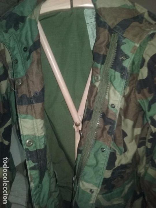 Militaria: USAF. US AIR FORCE. CHAQUETON TIPO M-65 WOODLAND PARA TIEMPO FRIO . - Foto 4 - 104551831