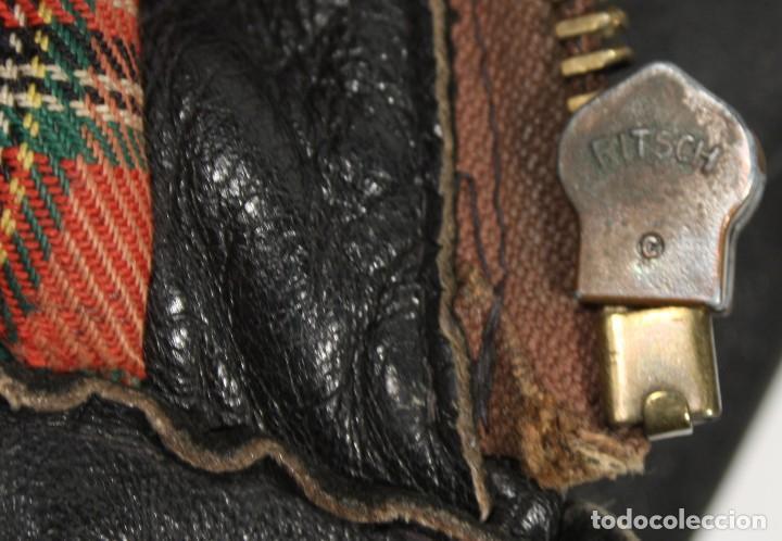 Militaria: Cazadora de cuero marrón, tipo piloto Luftwaffe, original Segunda Guerra Mundial - Foto 11 - 107453407