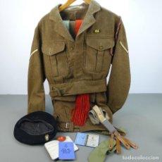 Militaria: ANTIGUO UNIFORME MILITAR 1953 INGLÉS R.O.A.C. DE CAMPAÑA KENIA, ÁFRICA.. Lote 110255731