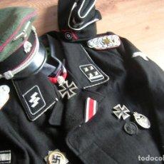 Militaria: UNIFORME COMPLETO DE OFICIAL DE CARROS PANZER WAFFEN SS. DIVISION LEIBSTANDARTE ADOLF HITLER.. Lote 114821867