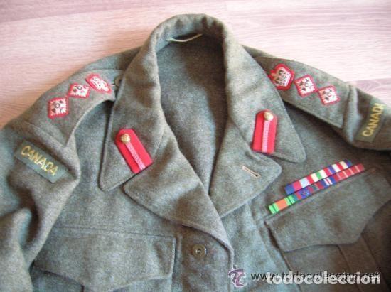 BATTLEDRESS / GUERRERA BRITANICA DE CORONEL DE TIERRA CANADIENSE. AÑO 1947. (Militar - Uniformes Extranjeros )