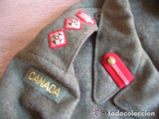 Militaria: BATTLEDRESS / GUERRERA BRITANICA DE CORONEL DE TIERRA CANADIENSE. AÑO 1947. - Foto 2 - 116283563
